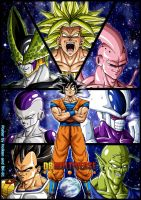 -DBM- Goku's enemies - Colored by BK-81 by DBZwarrior