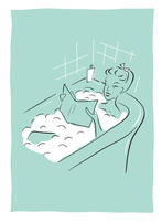 lounging in the tub by LaFoi