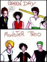 Green Day vs Monster Trio by MonkeyDFrankie