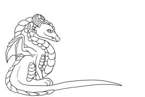 Free Dragon line art by Mdragonflame