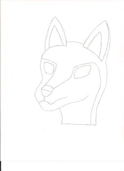 Anthro Wolf Head Sketch by wolfartist115