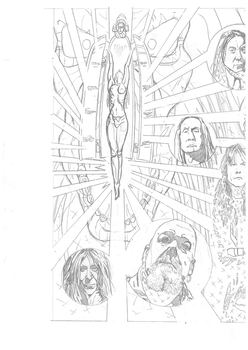 Iron Maiden page 24 1 of 2 spread pencils by DarrenEmond