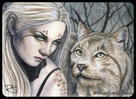 ACEO -- Feral by ElvenstarArt