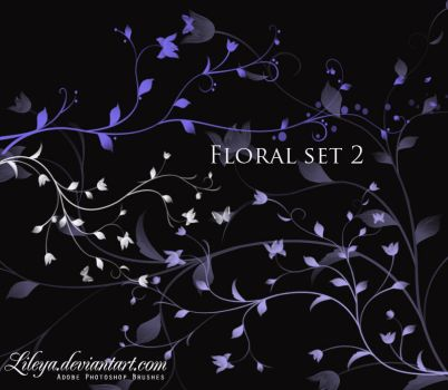 Floral brush set 2 by Lileya