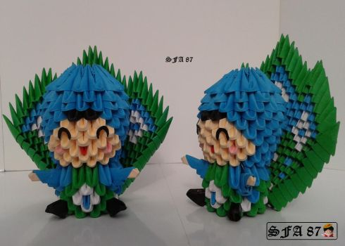 Peacock Kid Origami 3d by Sfa87