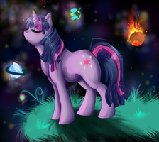 twilight sparkle planetfall by Hi0u