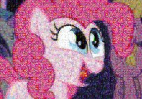 Pinkie Pie is happy mosaic by Lacon-te