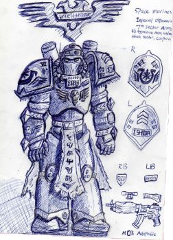 Space marine concept: Cold Assult Aggressive Recon by Noacuracy