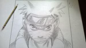 Sketch of Naruto by AIscariot