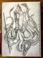 Squid Pencil by andy15140