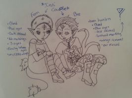 Jinni (closed species) Couple write to adopt by Iloveyaoi4ever
