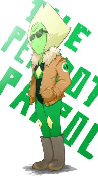 Peridot and his new jacket by jolous