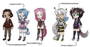 -CUSTOM ADOPTS- A male among females by M3LANCH0LY-AD0PTS