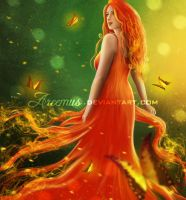 Her Vibrant Soul  (Digital Painting) by areemus