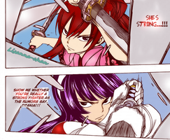 Erza vs Kagura - Chapter 311 by Lisanna-chan