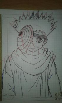 Boceto Ging Obito xD by Barby4
