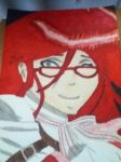 Black Butler Grell Sutcliff Drawing by skullgirlify