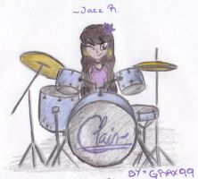 The Drummer - Clair by Grax99
