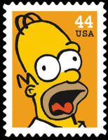 The Simpsons : Homer Stamp by dA--bogeyman