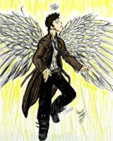 The Angel Castiel-color 1 by TheDarkBee
