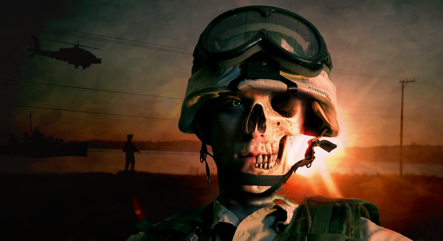 Face of Soldier by asganafer