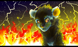 Luxray: Watch Me Burn by Amirah-the-cat