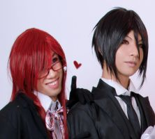 Sebas x Grell - Black Butler by denthui