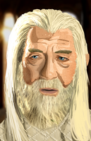 Gandalf the White by Blood-Bell