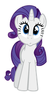 Confused Rarity Vector by M99moron