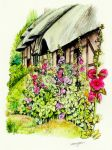 Anne Hathaways Cottage side by morgansartworld