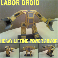 Labor Droid / H.L.P.A Papercraft Finished by rubenimus21