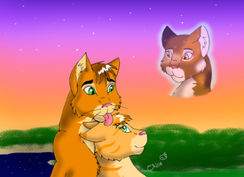 SpottedxFIREXSAND by Moonflight-RiverClan