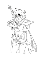 Lina Inverse -outline- by whitechariot
