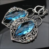 AZURE OCTOPUS - earrings by AnnaMroczek