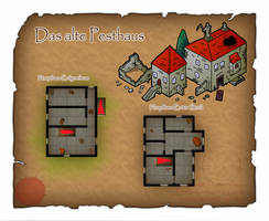 Das alte Pesthaus - Old Plague Ward Color Edition by DarthAsparagus