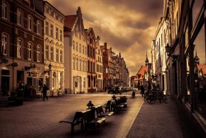 Beautiful old Harbour City Wismar in Germany. by DownloadPresets