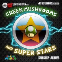 Green Mushrooms and Super Stars album cover by levonn78