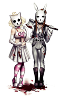 Killty and Bloodny - New outfit by Nasuki100