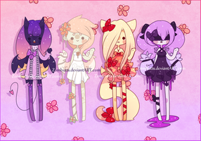 Adoptables Batch 6: CLOSED by Zombutts