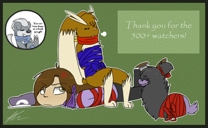 Thank you 500+ by The-Chibster