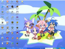 Lucky Star DeskTop Wallpaper by Minami-Uzumaki