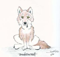 BrushFireWolf - Art Trade by SpiritWolfen
