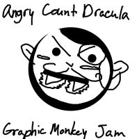 ANGRY COUNT DRACULA GRAPHIC MONKEY JAM by Wildbatty