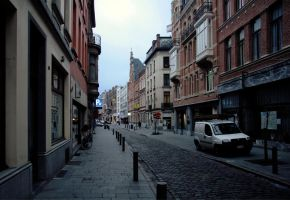 Antwerp - cobbled street by barefootliam-stock