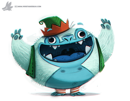Daily Painting 762. Yeti Helper by Cryptid-Creations