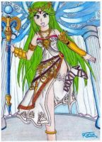 Palutena,goddess of light - Kid icarus uprising- by raptorthekiller