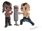 Lance and James Chibi Workout by Padme4000
