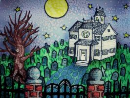 Shadow Box Halloween Hill 2 by cashewed-almonds