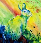 Rabbit Abstract by Dusty-Feather
