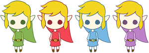 TLoZ - Four Swords Chibis 2 by Judas-la-Carotte